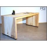 Table basse Fluere bords brut Live-edge Frêne-olivier
