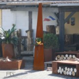 Brasero en acier Corten Vertex, artisanal et fabriqué en france par AGtrema