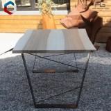 Table live-egde plateau bois massif et pieds acier - AGtrema