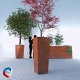 Bac a plantes, jardiniere évasée carrée pătŭlus