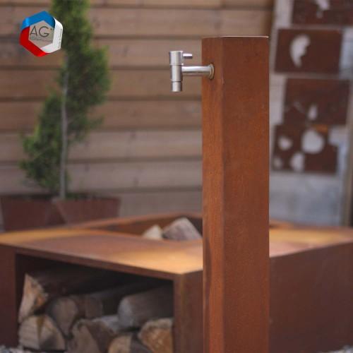 Fontaine- Colonne d'eau en corten sīlān