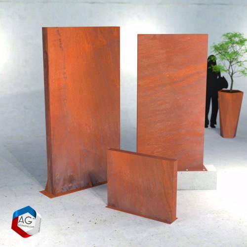 Mur brise-vue en acier corten rouillé, fabriqués en france - AGtrema