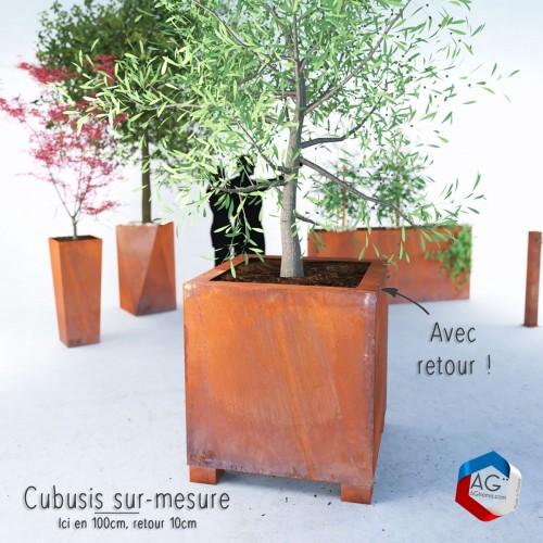 Bac a plantes Corten Cŭbusis