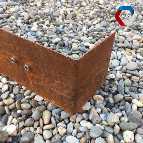 Coin pour Bordures en acier corten