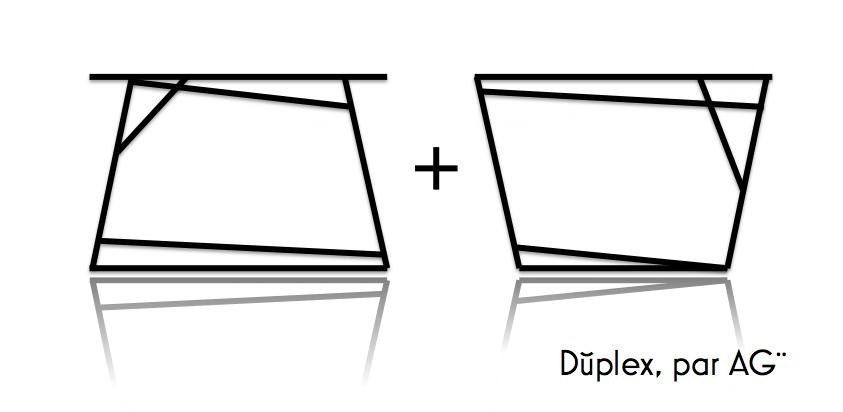 Pieds de table acier, modele duplex, par AGtrema