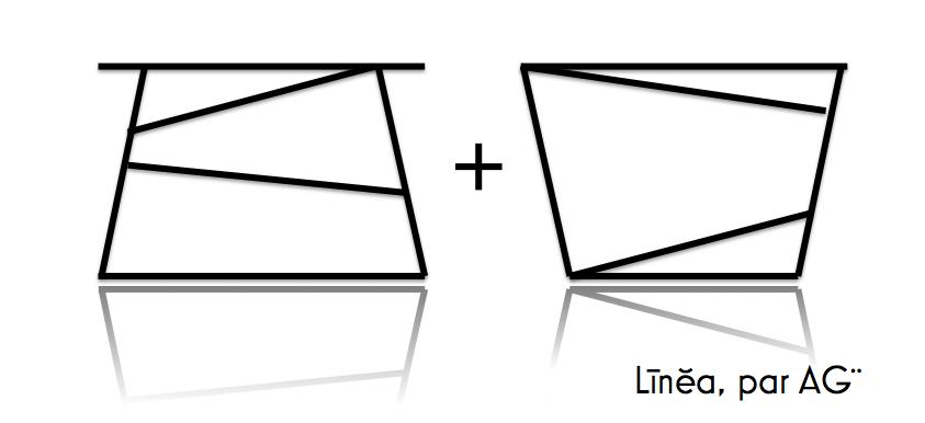 Pieds de table acier, modele linea, par AGtrema
