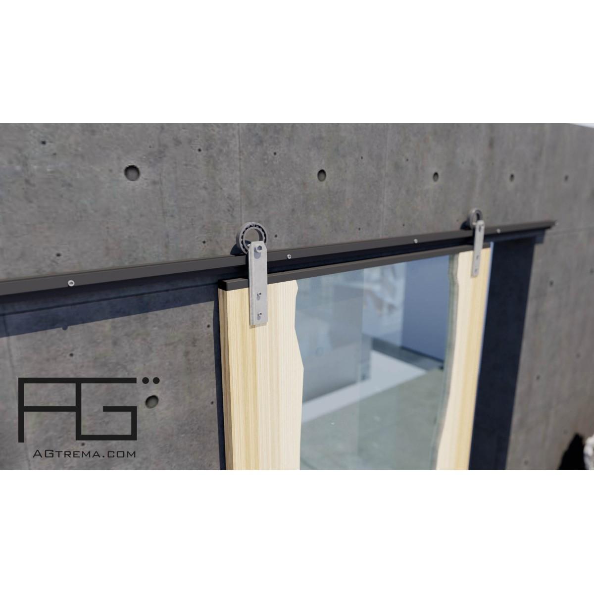rail pour porte coulissante aperio gros roulement. Black Bedroom Furniture Sets. Home Design Ideas