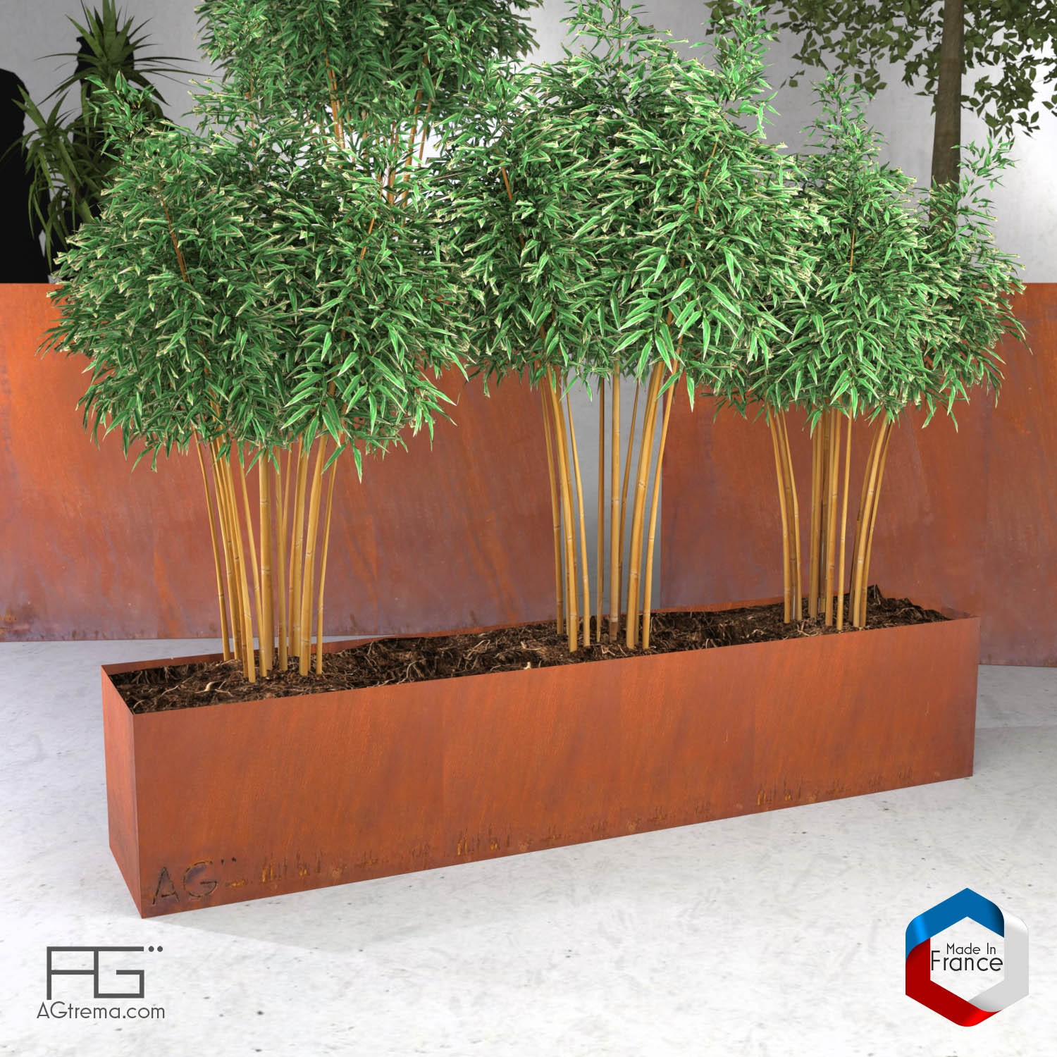 Bac plantes et jardini re corten agtrema for Plantes a commander
