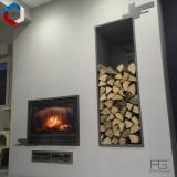 Niche murale à bois sur-mesure pour rangement de buches de cheminée - AGtrema